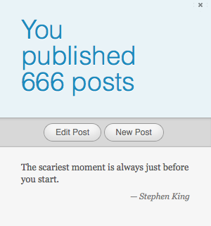 Blogs, Stephen King, and 666